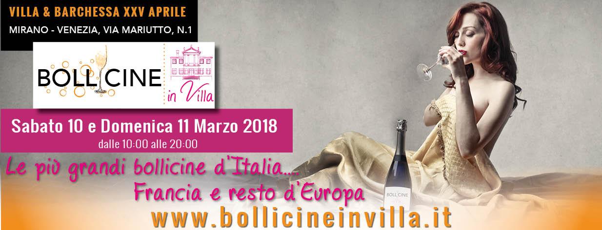 Bollicine in Villa 2018 2 edizione
